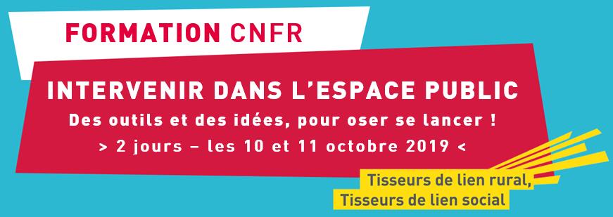 Formation Intervenir dans l'espace public - 10 & 11 octobre 2019 - En Seine-et-Marne (77)