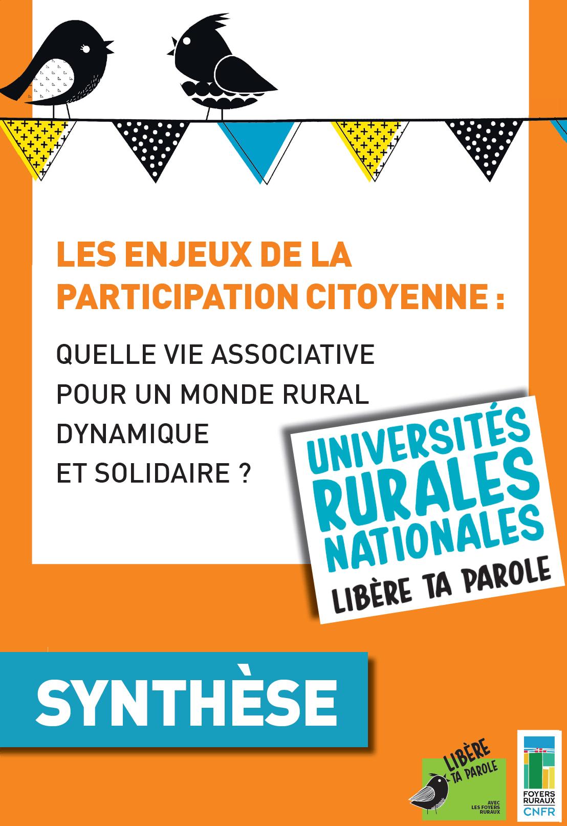 La synthèse des Universités rurales Nationales Libère ta Parole est arrivée !