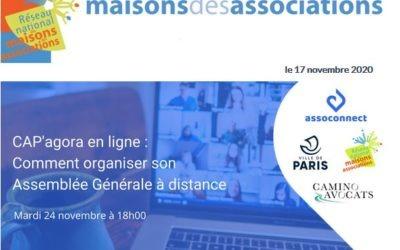 Organiser son Assemblée Générale à distance : webinaire le 24 novembre à 18h00
